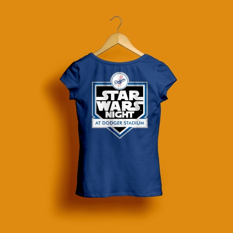 Star Wars Night 2017 Official Logo Ladies Dodgers T-Shirt