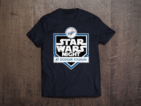 Star Wars Night 2017 Official Mens Dodgers T-Shirt in Black