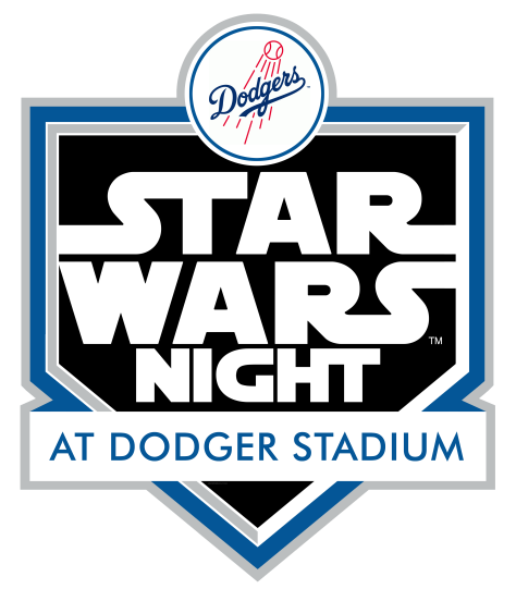 Star Wars Night LA Dodgers 2017 Logo Badge