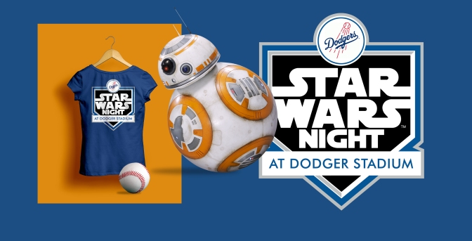 Star Wars Night LA Dodgers Logo