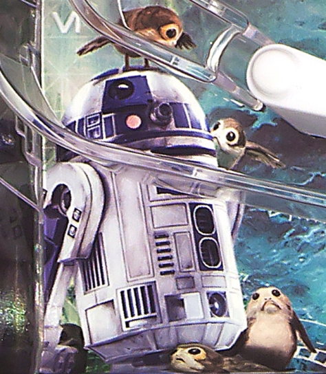 Star Wars The Last Jedi R2-D2 and the Porgs of Ahch-To