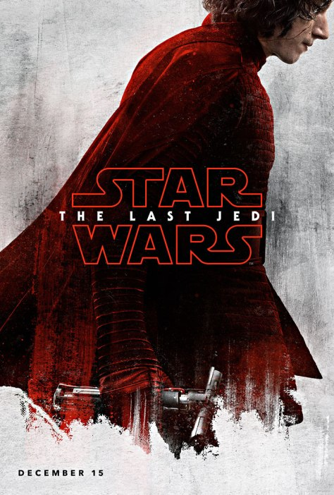 Star Wars The Last Jedi Teaser Character Posters Kylo Ren