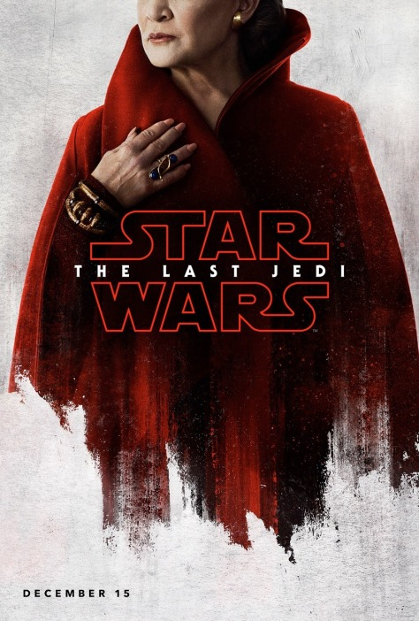Star Wars The Last Jedi Teaser Character Posters LEIA THE GENERAL