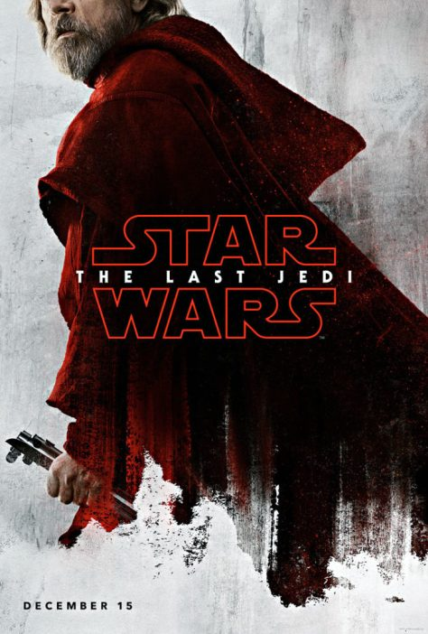 Star Wars The Last Jedi Teaser Character Posters LUke Skywalker Mark Hamill