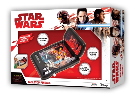 Star Wars The Last Jedi Walmart Tabletop Pinball Machine Packaging