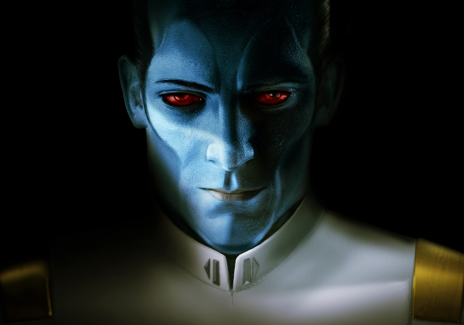 Star Wars Thrawn Art by Blue Dot