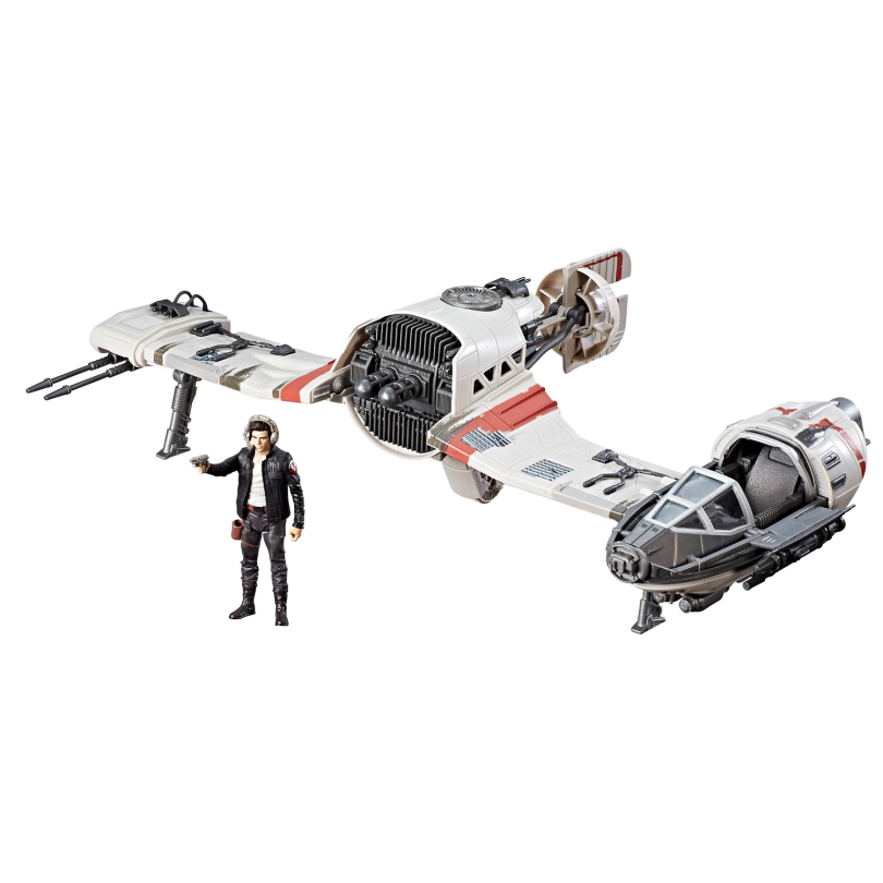 Hasbro Star Wars The Last Jedi Toys Exclusive _ Poe Dameron and the crait speeder