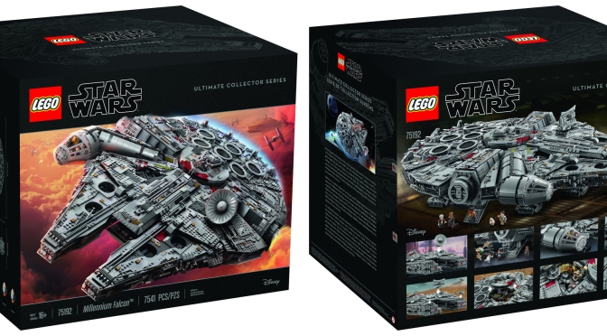 The 7,541 Piece Lego Millennium Falcon