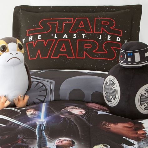 Star Wars The Last Jedi Character Bedding Set with Porg and BB-9E