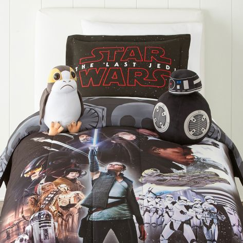 Star Wars The Last Jedi Character Official Poster Bedding Set with Porg and BB-9E
