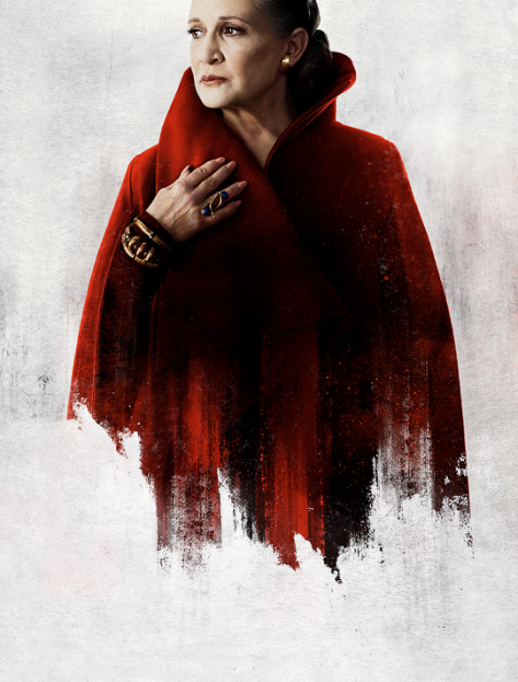 Star Wars The Last Jedi Character Posters uncropped and without text General Leia