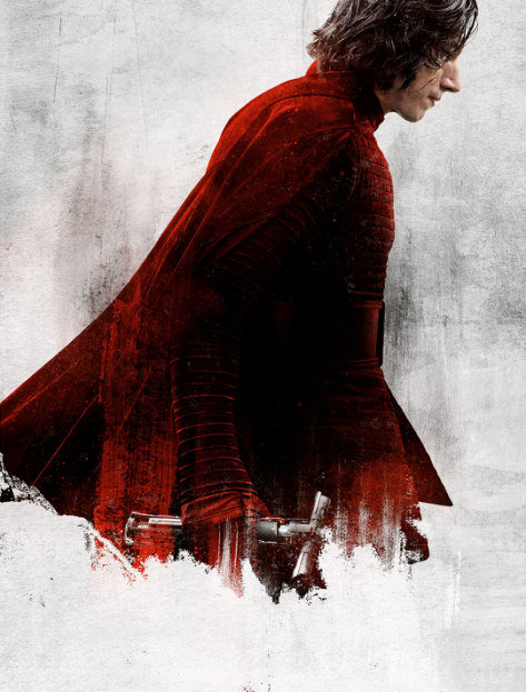 Star Wars The Last Jedi Character Posters uncropped and without text Kylo Ren Ben Solo