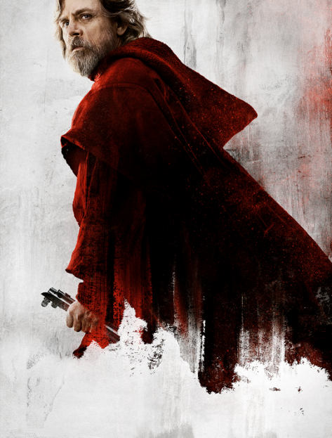 Star Wars The Last Jedi Character Posters uncropped and without text Luke Skywalker