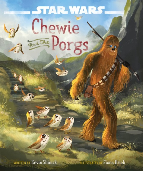 Star Wars The Last Jedi Chewbacca and the Porgs Book Cover