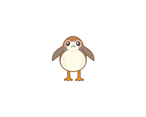 Star Wars - The Last Jedi Emoji Porg