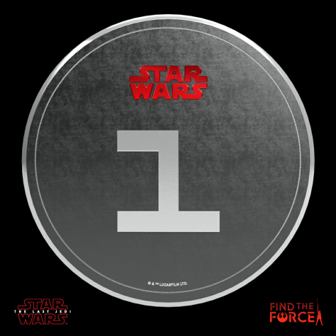 Star Wars The Last Jedi - Find the Force Coins Medals - Force Friday - 1 Point
