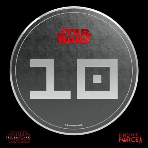 Star Wars The Last Jedi - Find the Force Coins Medals - Force Friday - 10 Points