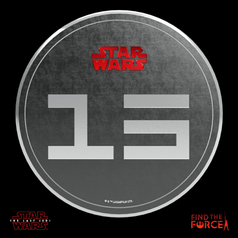 Star Wars The Last Jedi - Find the Force Coins Medals - Force Friday - 15 Points