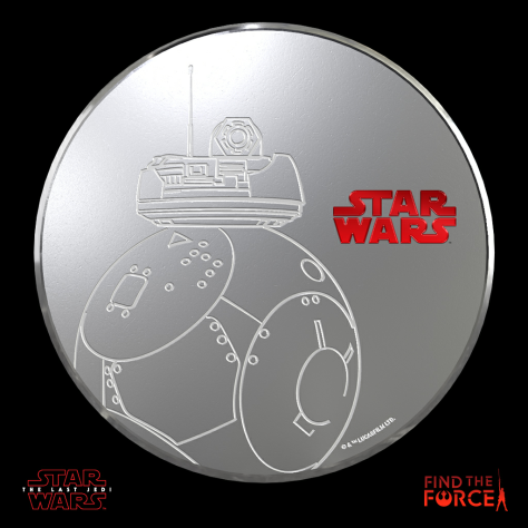 Star Wars The Last Jedi - Find the Force Coins Medals - Force Friday - 2BB-2