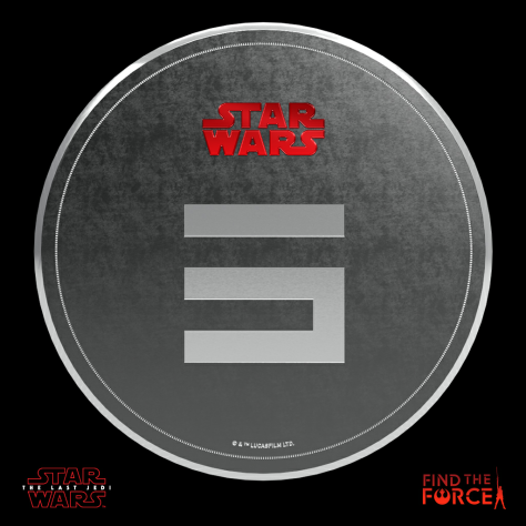 Star Wars The Last Jedi - Find the Force Coins Medals - Force Friday - 5 Points