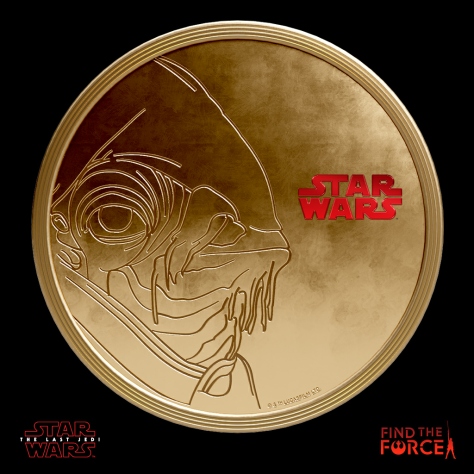 Star Wars The Last Jedi - Find the Force Coins Medals - Force Friday - Admiral Ackbar