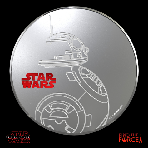 Star Wars The Last Jedi - Find the Force Coins Medals - Force Friday - BB-8