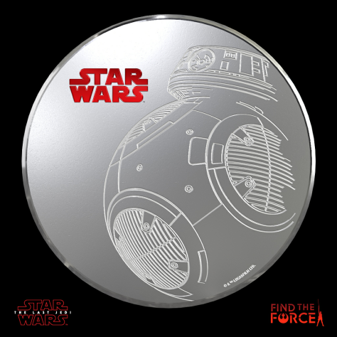 Star Wars The Last Jedi - Find the Force Coins Medals - Force Friday - BB-9E