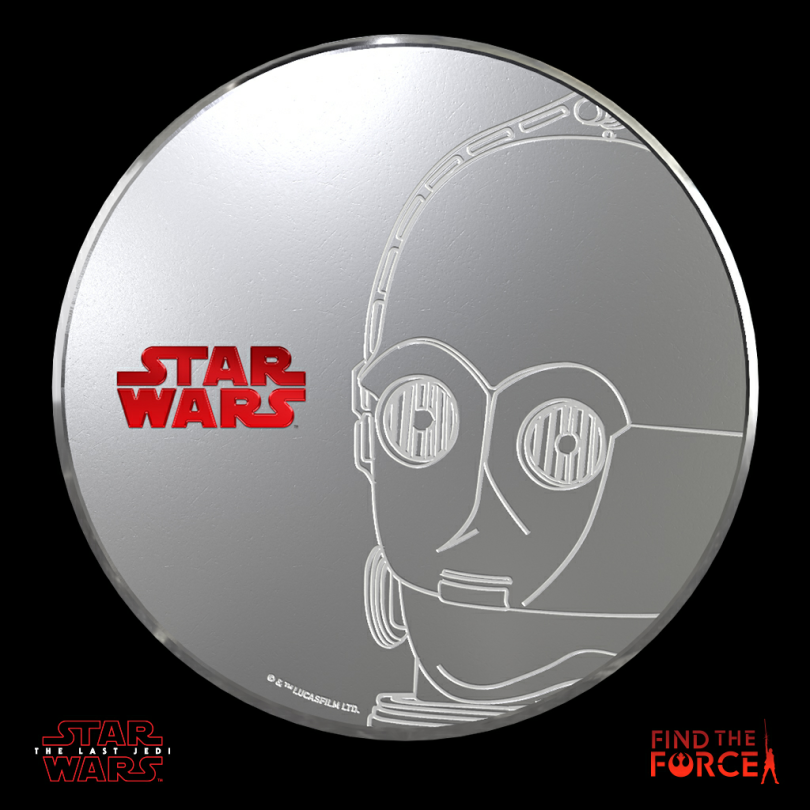 Star Wars The Last Jedi - Find the Force Coins Medals - Force Friday - C-3PO
