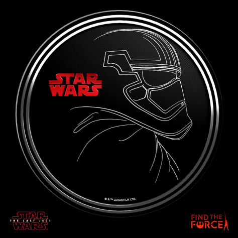 Star Wars The Last Jedi - Find the Force Coins Medals - Force Friday - Captain Phasma