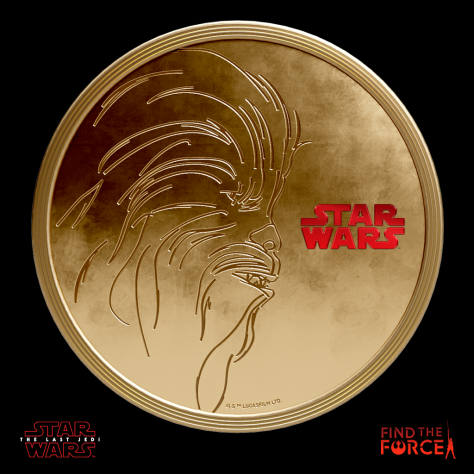 Star Wars The Last Jedi - Find the Force Coins Medals - Force Friday - Chewbacca
