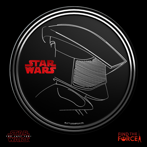 Star Wars The Last Jedi - Find the Force Coins Medals - Force Friday - Elite Praetorian Guard