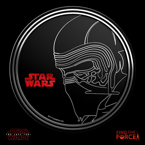 Star Wars The Last Jedi - Find the Force Coins Medals - Force Friday - Kylo Ren