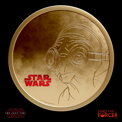 Star Wars The Last Jedi - Find the Force Coins Medals - Force Friday - Maz Kanata