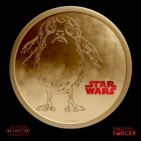 Star Wars The Last Jedi - Find the Force Coins Medals - Force Friday - Porg