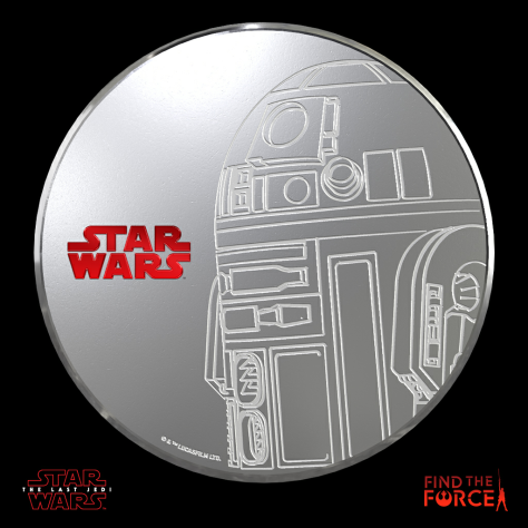 Star Wars The Last Jedi - Find the Force Coins Medals - Force Friday - R2-D2
