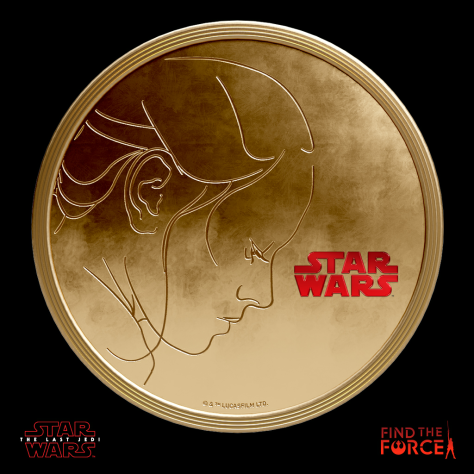 Star Wars The Last Jedi - Find the Force Coins Medals - Force Friday - Rey