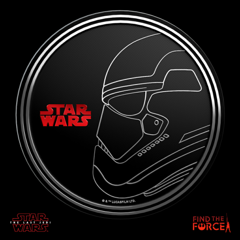 Star Wars The Last Jedi - Find the Force Coins Medals - Force Friday - Stormtrooper