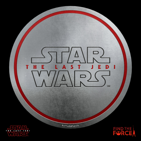 Star Wars The Last Jedi - Find the Force Coins Medals - Force Friday - The Last Jedi