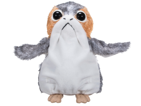 Star Wars The Last Jedi New Porgs cuddly toy