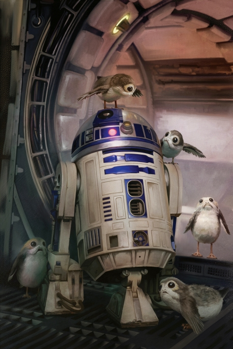Star Wars The Last Jedi New Promo Images Ultra Hi Resolution R2-D2 and the Porgs