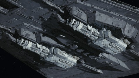 Star Wars The Last Jedi - The Dreadnought Warship