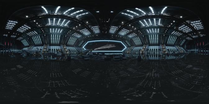 The Last Jedi 360 Dreadnought Warship
