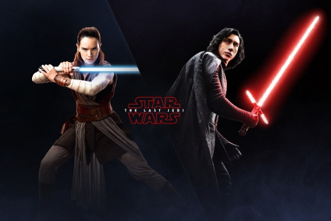 The Last Jedi Wallpaper Rey and Kylo Ren EA Battlefront 2 Poster 2 HD