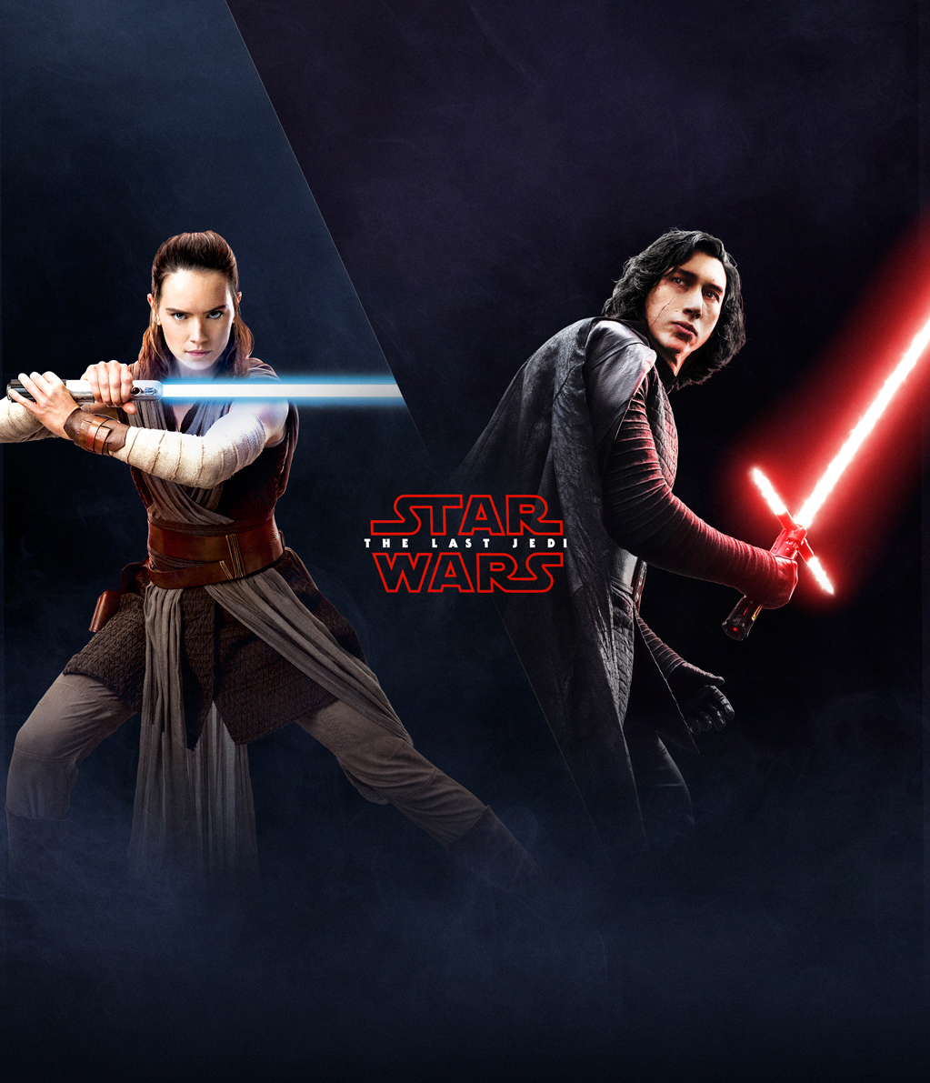 The Last Jedi Wallpaper Rey And Kylo Geek Carl