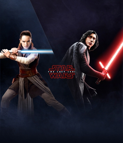 The Last Jedi Wallpaper Rey and Kylo Ren EA Battlefront 2 Poster HD Hi Res