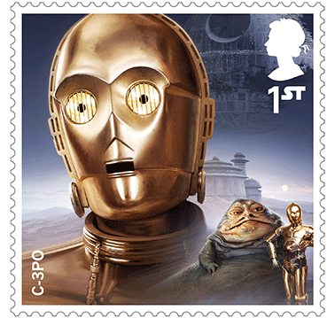 Star Wars Royal Mail UK Stamps 2017 Droids and Aliens C-3PO Return of the Jedi