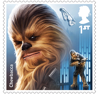 Star Wars Royal Mail UK Stamps 2017 Droids and Aliens Chewbacca Star Wars
