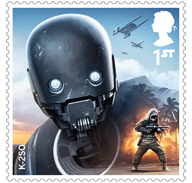 Star Wars Royal Mail UK Stamps 2017 Droids and Aliens K-2SO Rogue One
