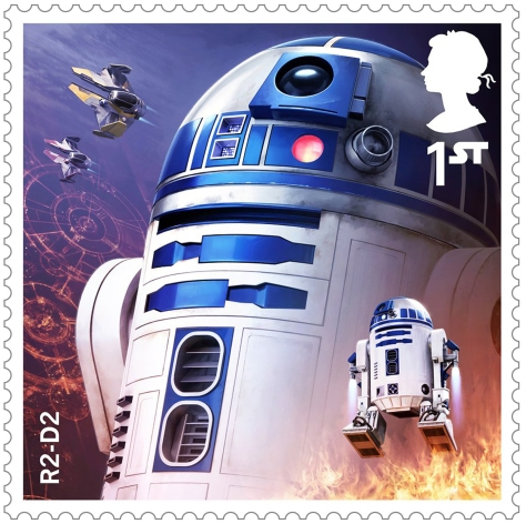 Star Wars Royal Mail UK Stamps 2017 Droids and Aliens R2-D2 Revenge of the Sith Large Hi-Res