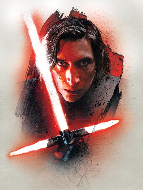 Star Wars The Last Jedi New Promo Character Art -  Kylo Ren